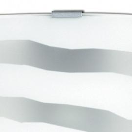Diffuseur en verre blanc avec décoration zébrée chromée FanEurope