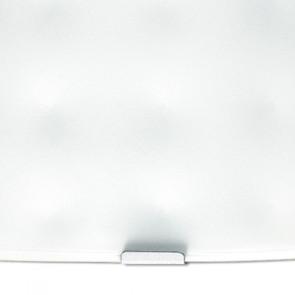Applique murale en verre carré blanc...