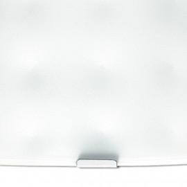 Diffuseur en verre blanc avec décoration FanEurope en forme de coussin