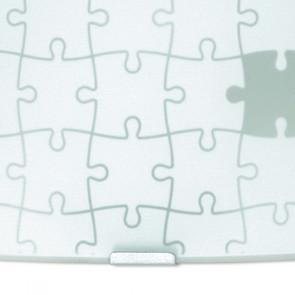 Applique murale carrée en verre avec...