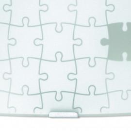Diffusore in Vetro Bianco con Decoro a Puzzle Fan Europe