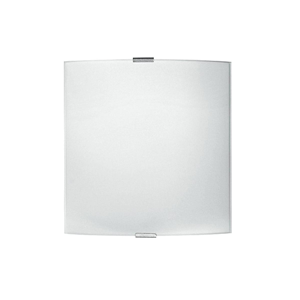 72/00300 - Applique murale simple en verre blanc carré E27