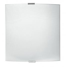 72/00300 - Applique Quadrata Semplice Vetro Bianco Lampada Moderna Interno E27