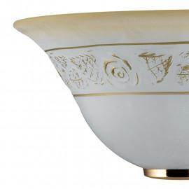 Diffuseur en verre ambre dégradé blanc avec décoration en or rose Rosy FanEurope Line