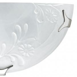 Diffuseur en verre albâtre blanc avec décoration FanEurope Fioremisto