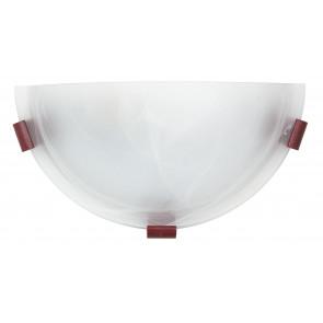 Applique Lunetta Classica Vetro Alabastro Bianco Lampada da Parete E27