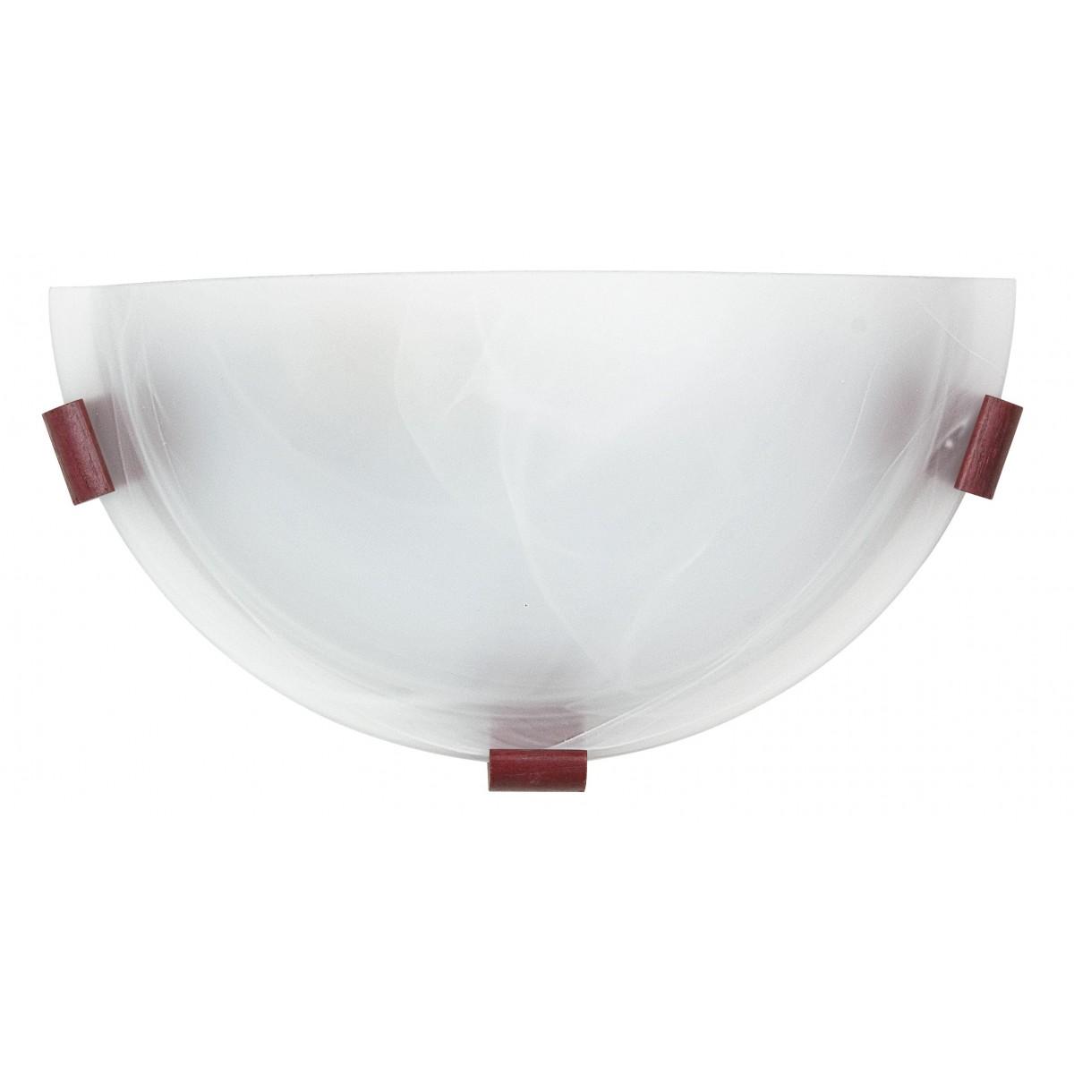 32/12112 - Applique Lunetta Classica Vetro Alabastro Bianco Lampada da Parete E27