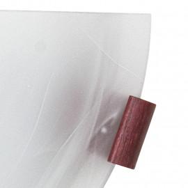 Applique con Diffusore in Vetro Alabastro Sfumato Bianco Ganci in Legno Linea Lente FanEurope