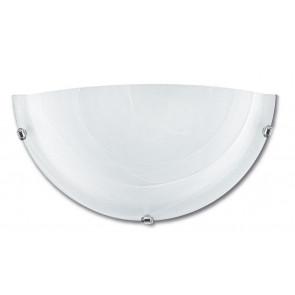 32/28401 - Applique Lunetta Vetro Sfumato Bianco Classica E27