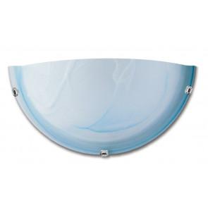 32/29201 - Applique Lunetta Vetro Sfumato Azzurro Lampada Classica Interno E27
