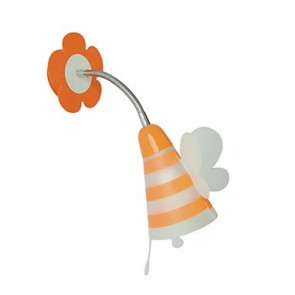 K-FATINA/AP ARANCIO - Applique Arancio Orientabile Paralume Fatina Pvc Lampada da Parete per Cameretta E14