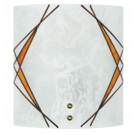 I-ROSITA/AP - Applique Quadrata Vetro Satinato decoro Geometrico Ambra Classica E27