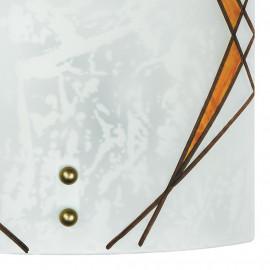 Diffuseur en verre à décor d'ambre géométrique Ligne Rosita