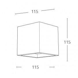 Applique Rubik Cubica 11,5x11,5 cm in Gesso Verniciabile FanEurope