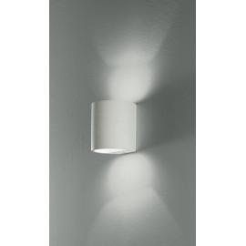 I-SHINE-AP - Applique Gesso Cilindrica Doppio Raggio di Luce Lampada Verniciabile G9