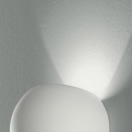 Applique Murale en Plâtre Blanc avec Ligne Moïse à Diffusion de Lumière Supérieure