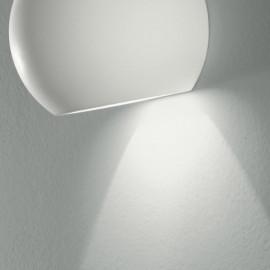 Struttura in Gesso Bianco Verniciabile Applique Moses con Diffusione Luminosa Inferiore