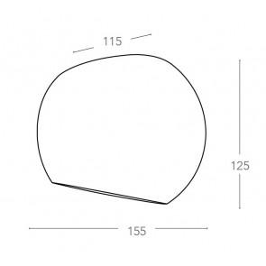 I-MOSES-AP - Applique ronde en plâtre...