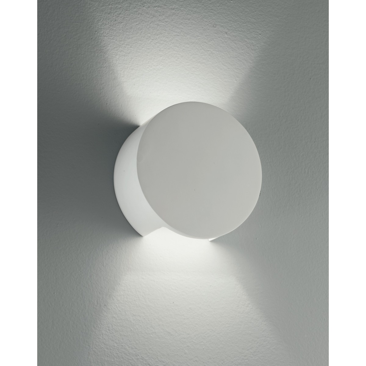 I-LEIRON-AP - Applique Paintable Plaster Round Double Diffusion of Light Applique G9