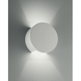 I-LEIRON-AP - Applique Paintable Plaster Round Double Diffusion of Light Applique G9