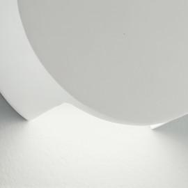 Struttura in Gesso Bianco con Diffusione Luminosa Inferiore Applique Leiron