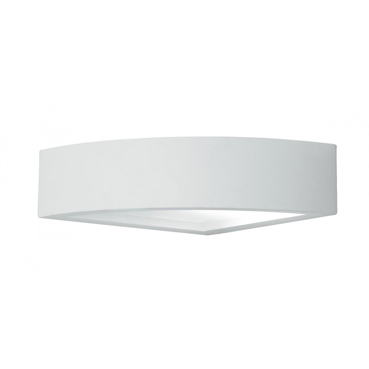 I-MYKONOS-AP - Applique Angolare Gesso Lampada Verniciabile Doppia Emissione di Luce E14