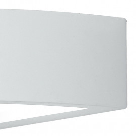 Lampada ad Parete in Gesso Bianco Verniciabile con Doppia Diffusione Luminosa Linea Mykonos