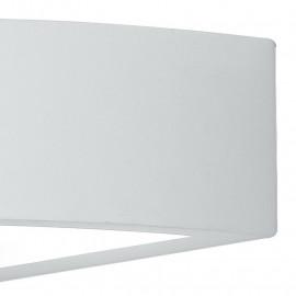 Applique en plâtre blanc à peindre avec ligne Mykonos à double diffusion de lumière