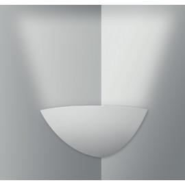 I-SANTORINI-AP - Applique Angolare Gesso Verniciabile Emissione di Luce Verso Alto E14