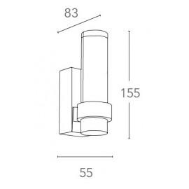Applique a led dalla forma cilindrica