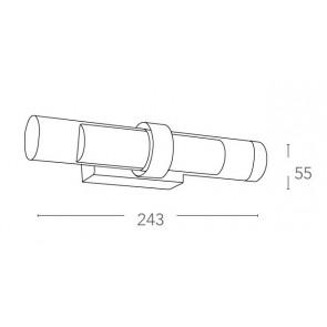 LED-W-VEGA/6W - Applique con due luci