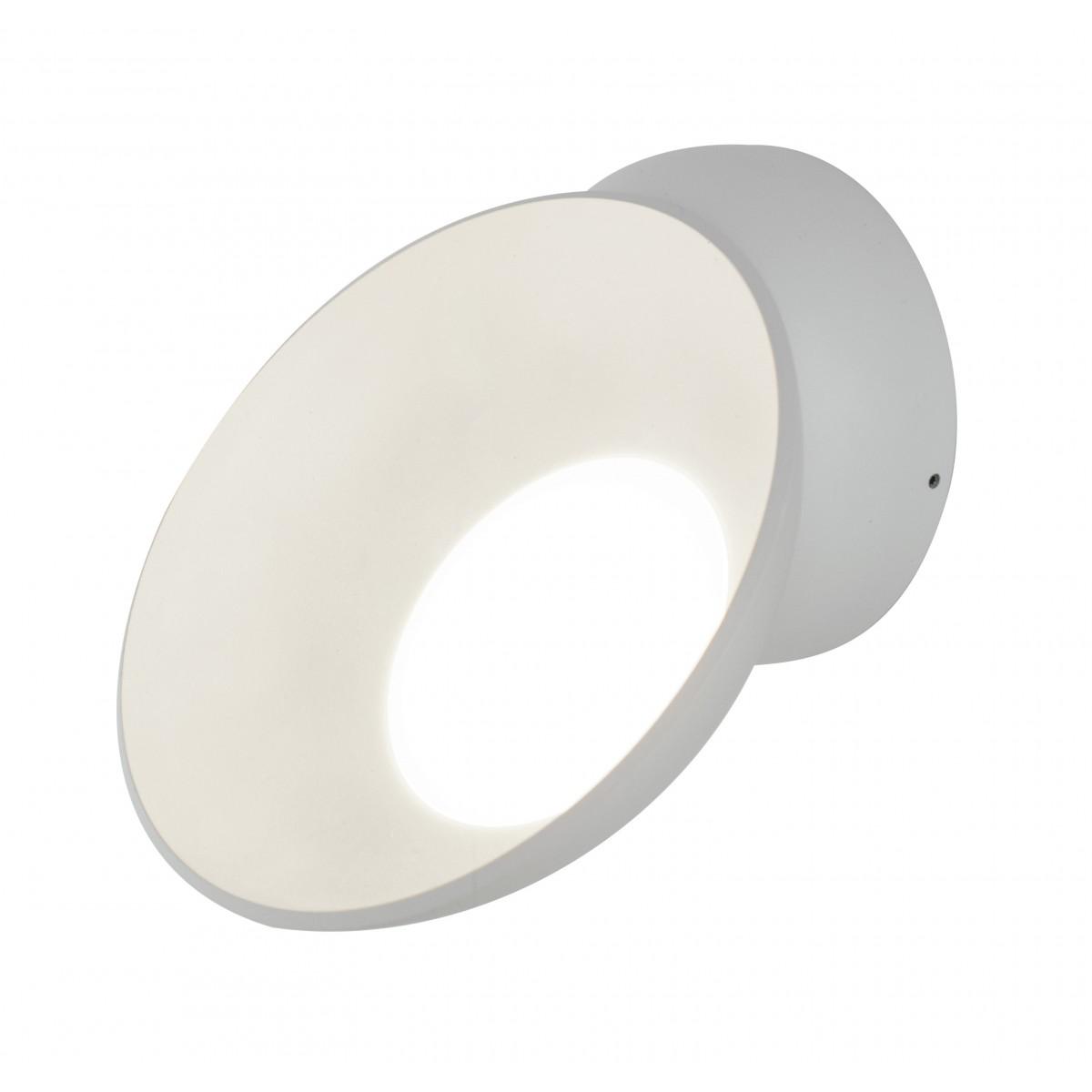 Applique bianca tonda orientabile con