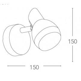 SPOT-CAYENNE-1 - Applique en forme de