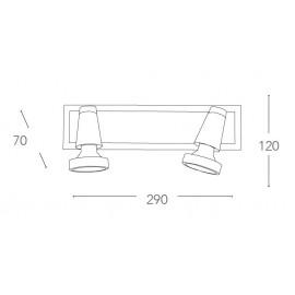 SPOT-MIAMI 02 - Applique à deux lampes