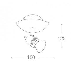 SPOT-SUNNY-1 - Applique dal design