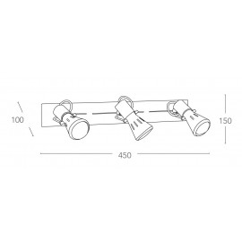 SPOT-CADILLAC-3 - Applique cromata dalla