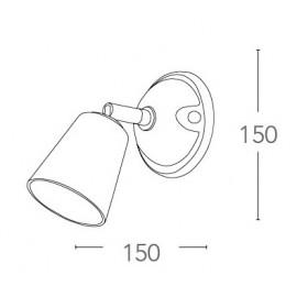 SPOT-LIMOGES-1 - Applique dal design