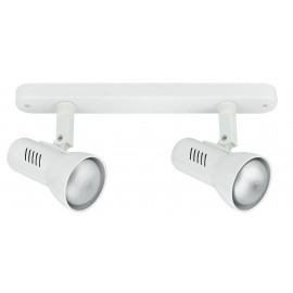 Applique bianca a due luci moderna 42