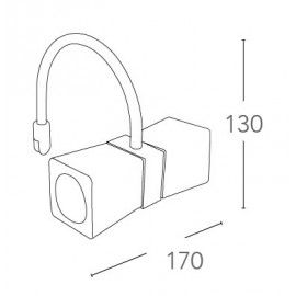 Applique cromata con due paralumi cubici