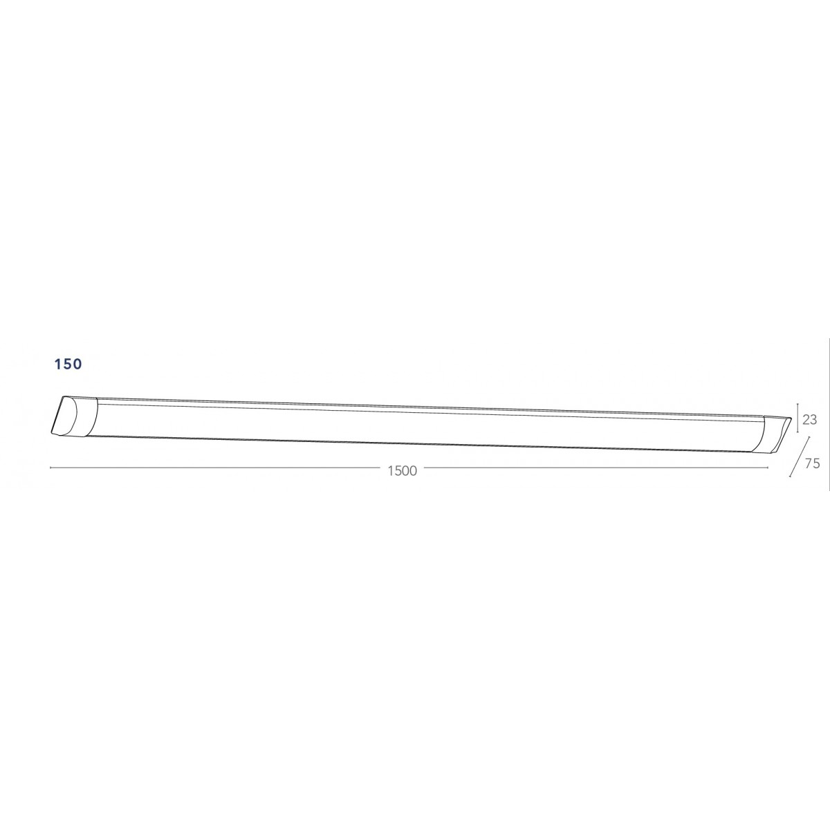 LED-BATTEN-150 Applique Bianco Led