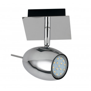 Applique con luce led dalla forma ovale cromata 5 watt 3000 kelvin