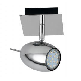 Applique avec lumière LED ovale chromée