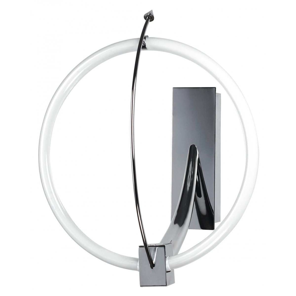 CERCHIO/AP - Applique Lampada Bagno Cerchio Metallo Cromo 55 watt T5 Luce Fredda
