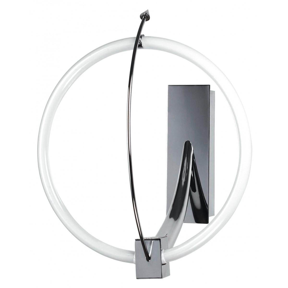 CERCHIO / AP - Applique Lampe de Salle de Bain Cercle Chrome Métal 55 watts T5 Lumière Froide