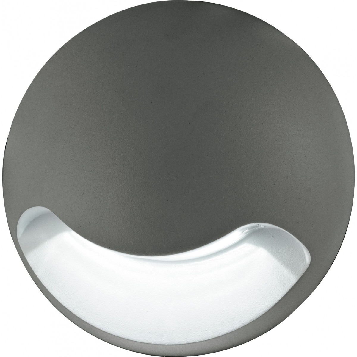 Applique ronde grise avec éclairage LED