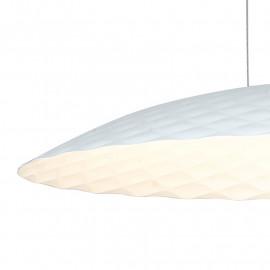 Lampadario Sospeso in Alluminio Bianco Oro Luce Led Fan Europe
