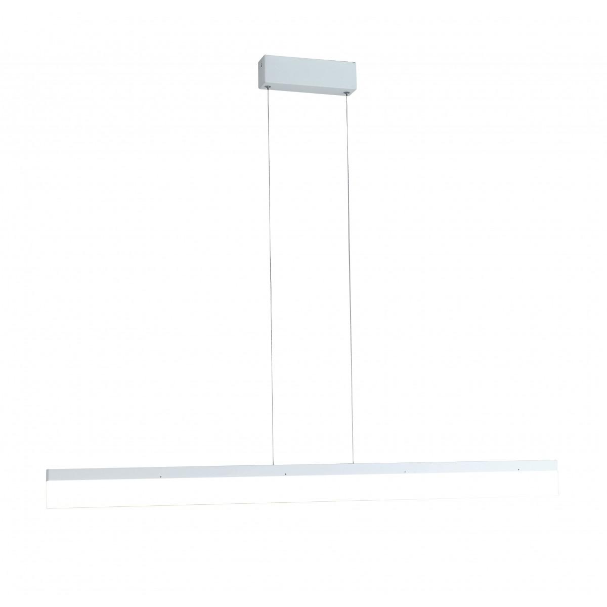 LED-SATURN-S120 - Lampadario a sospensione Rettangolare Bianco Alluminio Acrilico Led 36 watt Luce Naturale