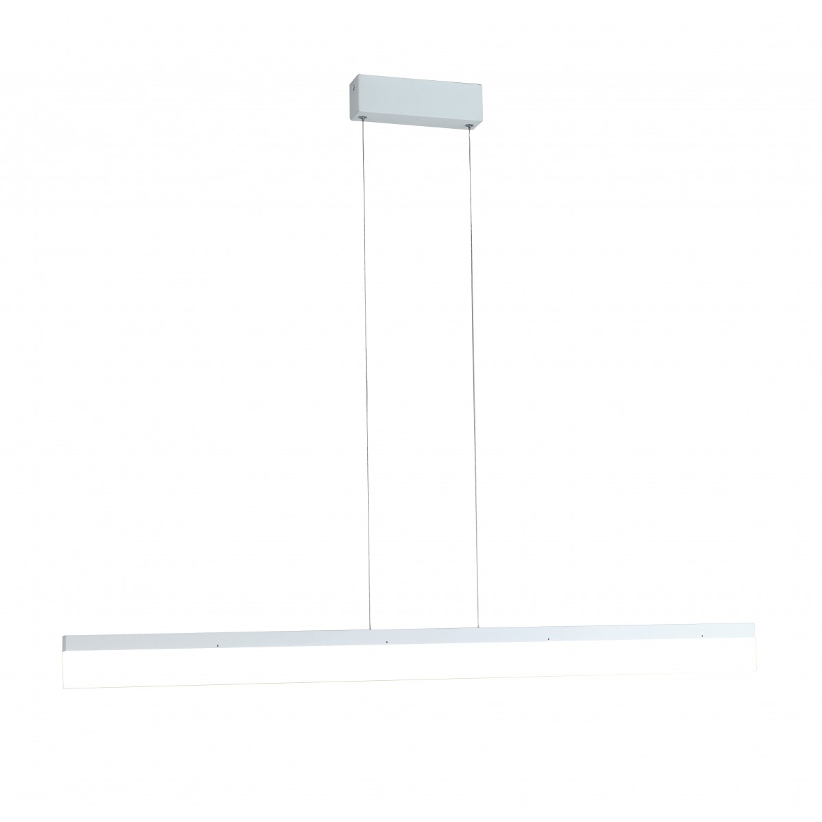 LED-SATURN-S120 - Lustre à Suspension Rectangulaire Blanc Aluminium Acrylique Led 36 watts Lumière Naturelle