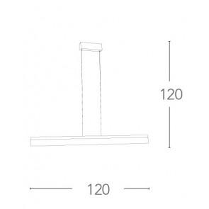 LED-SATURN-S120 - Lustre à Suspension...