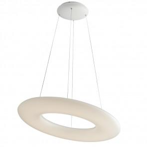 LED-MYLION-S60 - Lampadario a sospensione Anello Opale Metallo Bianco Moderno Led 40 watt Luce Naturale